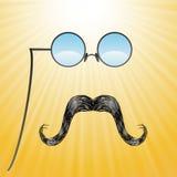 Schnurrbärte und Gläser Lizenzfreie Stockbilder