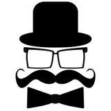 Schnurrbart, Hut, Sonnenbrille vektor abbildung