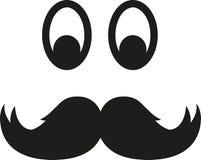 Schnurrbart mit Augen stock abbildung