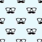 Schnurrbart und Gläser vektor abbildung