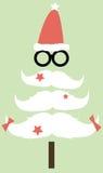 Schnurrbart-Weihnachtsbaum Lizenzfreie Stockbilder