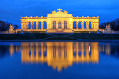 Schobrunn宫殿庭院Gloriette,维也纳,维也纳 免版税库存照片