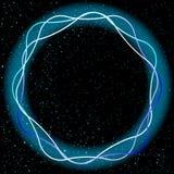 Schock-Neonblau Stockbild