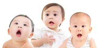 Schockierende Babys Stockfoto