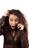 Schockierender Telefonanruf Lizenzfreie Stockfotos