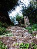 Schodów kamienie w de Francja obrazy royalty free
