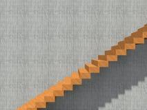 Schodek na ściennym tło budynku, architekturze lub Fotografia Stock