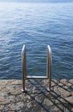 Schodek w morzu Fotografia Royalty Free