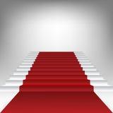 Schodek z czerwonym chodnikiem ilustracja wektor
