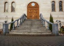 Schodka tu kościół Fotografia Stock