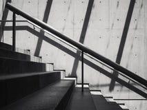 Schodki Cementują betonowa ściana cienia cienia architektury abstrakt Obraz Stock
