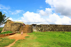 Schodki, Galle fort Obrazy Stock