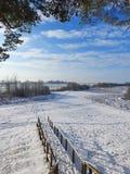 Schodki iść od wzgórza Nemunas rzeka, Lithuania fotografia royalty free