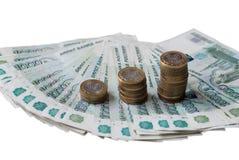 Schodki monety Obrazy Stock