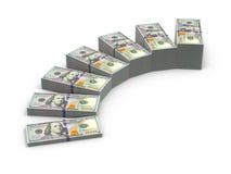 Schodki od stert pieniądze Obraz Stock
