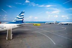 Schodki otwarty samolot fotografia royalty free