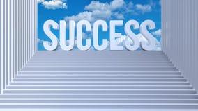 Schodki prowadzą sukces 3d odpłacają się ilustracja wektor