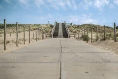 Schodki przy holender plażą Fotografia Stock