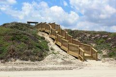 Schodki przy plaża portem Aransas Teksas Obrazy Stock