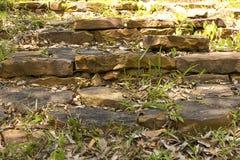 Schodki skały w parku narodowym fotografia royalty free