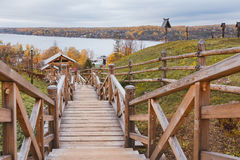 Schodki Volga rzeka Fotografia Stock