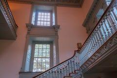 Schodki wśrodku niezależności Hall w Filadelfia Pennsylwania fotografia royalty free