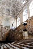 Schodki wśrodku Royal Palace w Naples, Włochy Zdjęcia Stock