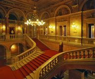 Schodki wśrodku Węgierskiej stan opery zdjęcie stock