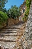 Schodki w Fornalutx, Mallorca Obrazy Stock