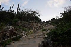 Schodki w naturze przy Hooiberg Fotografia Stock