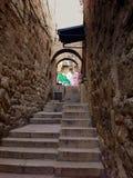 Schodki w starym miasteczku, Jerozolima, Izrael Obrazy Royalty Free