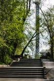 Schodki wierza blisko krajowej areny zdjęcie royalty free