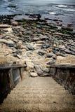 Schodki wybrzeże Zdjęcia Stock