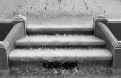 Schodki z wodą bieżącą Obraz Royalty Free