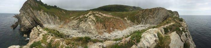 Schodowa dziura, Lulworth zatoczka Obrazy Royalty Free