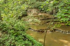 Schodowa kroka trawertynu wody formacja - 2 Zdjęcie Stock
