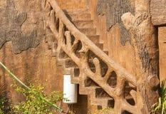 Schody ściana Fotografia Royalty Free