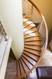 schody ślimakowaty drewniane obraz stock