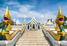 Schody środkowy wejście w Buddha Świątynny Kaeo Ko W Obraz Stock