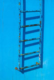 schody błękitny ośniedziały rocznik Obrazy Stock