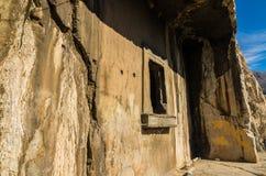 Schody Kołysać grobowów królewiątka Pontus w Amasya, Turcja Obraz Royalty Free