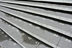 Schody krok z liczbami przy Kuching miasteczka meczetem Zdjęcie Stock