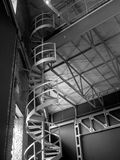 schody ślimakowaty metali Obrazy Stock