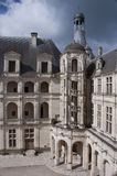 Schody na fasadzie Górska chata Chambord Obraz Royalty Free