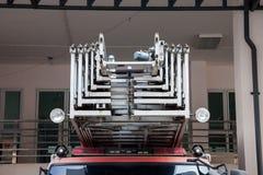 Schody na firetruck Zdjęcia Royalty Free
