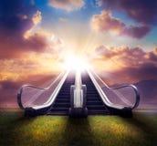 Schody niebiański, wysoki kontrast/, fotografia złożona zdjęcie stock