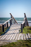 Schody plaża Fotografia Royalty Free