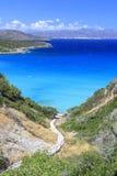 Schody prowadzi w dół morze crete Grecja Obraz Royalty Free