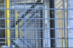 schody przemysłowe Zakończenie Przemysłowy żelazny schody Tło Makro- wizerunek może używać jako tło Obraz Royalty Free