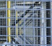 schody przemysłowe Zakończenie Przemysłowy żelazny schody Tło Makro- wizerunek może używać jako tło Zdjęcie Stock